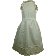 Antique original French hand-sewn cotton dolls slip appr. 1880