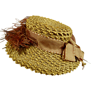 Beautiful original antique fine straw hat for your fashion doll or Bébé