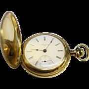 Antique Gold Hunter Style Elgin Pocket Watch