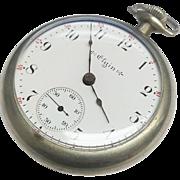 Antique Elgin Natl Watch Co Open Face Pocket Watch