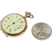 Antique Miniature American Waltham Pocket Watch