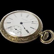 Antique American Waltham Nickel Open Face Pocket Watch