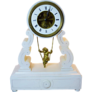 Farcot French Figural Swinger Mantel Clock