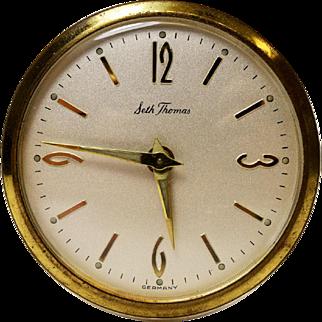 Vintage Seth Thomas Transparent Desk Clock with Alarm