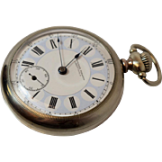 Rare Antique Seth Thomas 17j Open Faced Pinkerton Tobacco Advertisement Pocket Watch