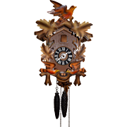 RARE Blackforest German Animated Cuckoo Clock with Moving Birds