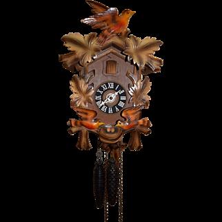 RARE Blackforest German Animated Cuckoo Clock with Moving Birds