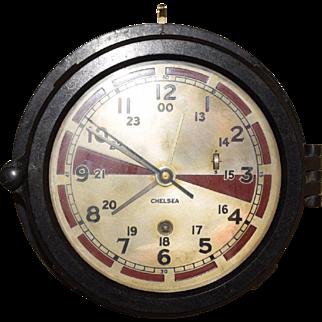 Antique Chelsea U.S. Military Submarine Ships Clock Beautiful Clock
