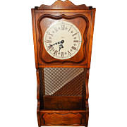 Trend Clocks Lovely Hand Carved Wooden Hanging Wall Clock with Storage-Excellent, Fully Working Condition with Key!