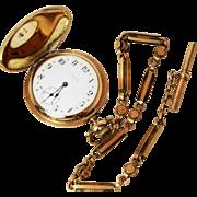 Exquisite P.S. Bartlett Antique Waltham Star Dial Hunter Style Pocket Watch