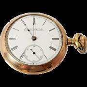 Antique 1894 G.M. Wheeler Elgin Open Face Pocket Watch