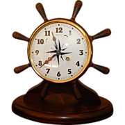 Antique New England Clock Co. Ships Wheel Clock-Excellent, Fully Working Condition with Key!