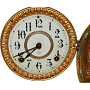 Antique Ansonia Hand Crafted Walnut Bracket Clock-Excellent, Fully Working Condition with Key and Pendulum! Circa Late 1800s