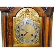 Antique German-Made Junghan's Walnut Bracket Clock-Double Chime Strike-Circa 1880 Excellent, Fully Working Condition with Key and Pendulum!