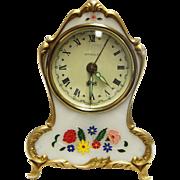 Very Nice Vintage Bradley German Made, Reuge Musical Alarm Clock-Excellent Condition-Still Ticking!