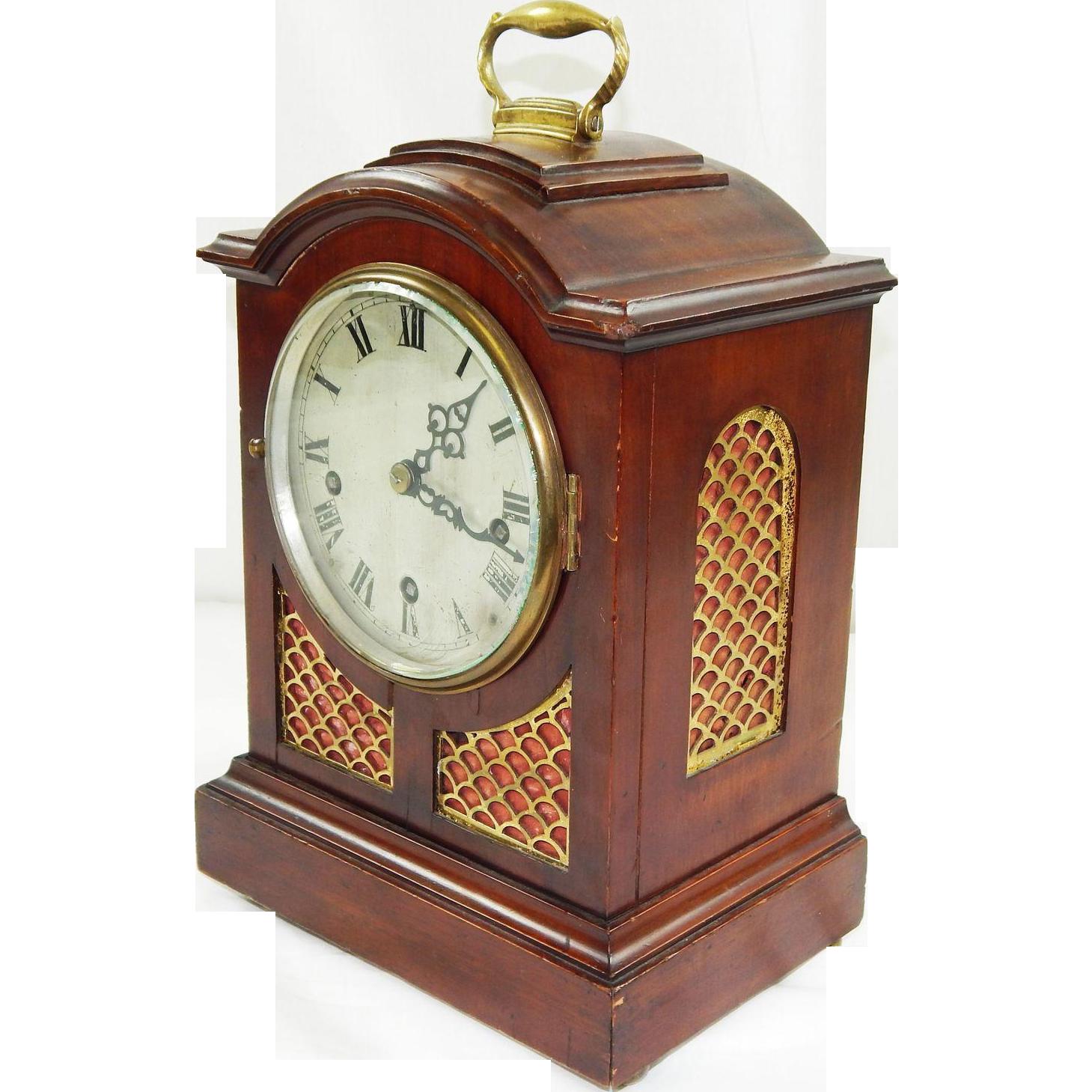 212) Rare Antique R&C French Triple Wind Bracket Clock-5 ...