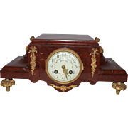 Extremely Rare Beauvais Marble Clock from the Early 1800's. This is a beautiful red marble clock