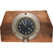 Antique Chelsea Airplane Clock VERY RARE. This is a very rare 8 day Chelsea Clock Co. clock made for Standard Aero Corp of NY. It is in perfect working condition. It winds up from the front. It has a seconds dial. It is cased in a block of wood p
