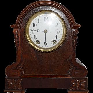 Antique Seth Thomas Wooden Mantle Clock RARE Movement