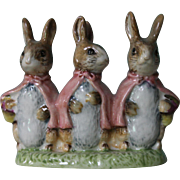 Beatrix Potter Flopsy Mopsy and Cotton Tail Figurine