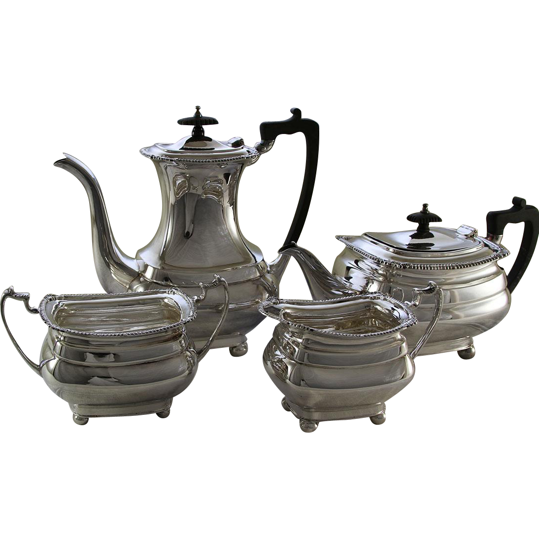 Silver 4 Pc. Tea & Coffee Set