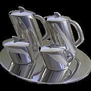 Wonderfully designed Silver Tea & Coffee Set & Tray