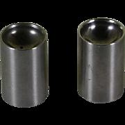 Stelton Stainless Short  Salt & Pepper Shakers designed by Arne Jacobsen