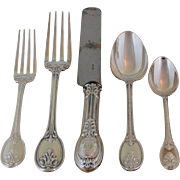 Odiot, Paris Wonderful Sterling Silver  5-pc Place-Setting, 07- Grimaldi