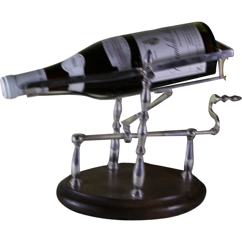 Wine Cradle, Silver Plated, Mechanical