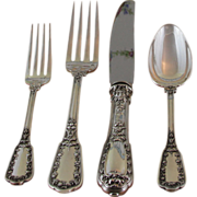 A superb Sterling Silver 5-pc Place-Setting, 33- Beaugency