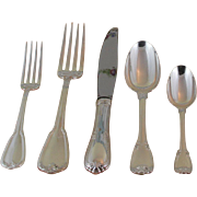 Delightful  Sterling Silver 5-pc Place-Setting, 40- Chaumont