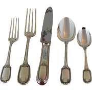 Refined Sterling Silver 5-pc Place-Setting, 42- Marie Antoinette