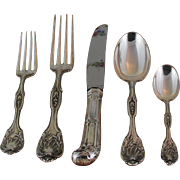 Richly Sculptured Sterling Silver 5-pc Place-Setting, 82- Beauregard