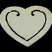 Sterling Silver Book Mark Heart-Shape