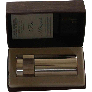 Dupont Silver Table Lighter, Guilloché