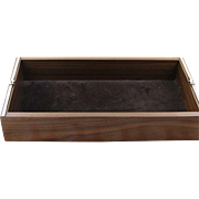 Precious Walnut Wood Desk Tray with Sterling Silver Knot
