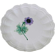 Collector's Cabinet Plate with Blue Anémone