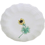 Collector's or Cabinet Plate with Yellow Anémone