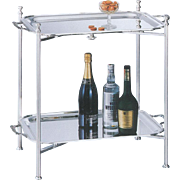 Collapsible Silver Stand & Tray