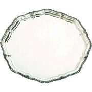 Wonderful Silver Round Shaped Tray, Shaped Gadroon