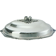 Silver Oval Platter & Cover, Shaped Gadroon