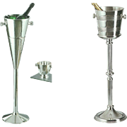 Silver Base & Champagne-Wine Cooler, Fluted