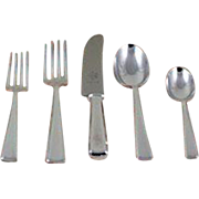 Complete European Cutlery Set for 12, including Fish Eaters & Serving Pieces 119 pieces. Leighton pattern.