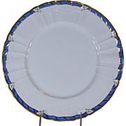 Collector's Cabinet Plate Blue Border and Gold Rim