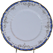 Collector's Cabinet Plate Gold Decoration, Blue Border and Gold Rim