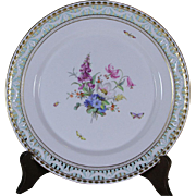 Collector's Decorative/Cabinet Plate, Pierced Border
