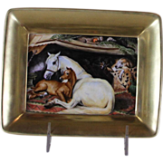Free Hand-Painted Arab Tent, After Edwin Landseer Painting with Large Gold Border