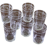 Set of  7 Charming Vodka Small Glass