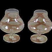 Vintage Orrefors Pair of Brandy Glass, Unusual Shape