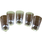Tumblers or Whisky Glasses, Set of 5  Givré - Frost